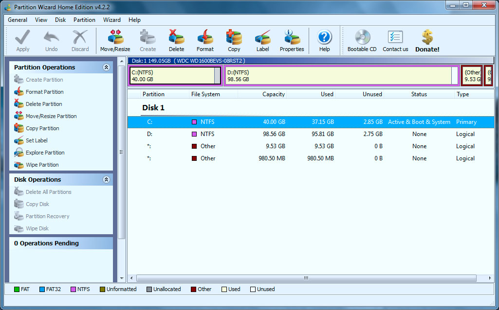 partition wizard interface Partition Wizard โปร�
