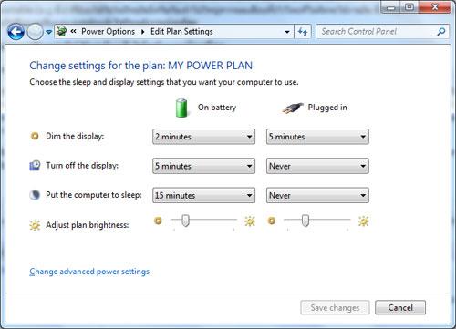 power option edit plan Battery Notebook ใช้อย่างไรให้คุ้มค่า