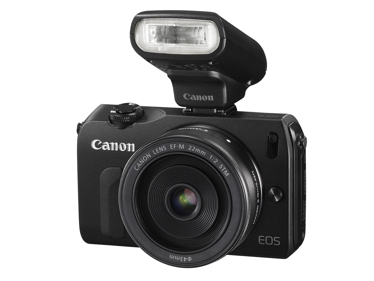 Canon EOS-M สีดำ พร้อมกับแฟลช SPEEDLITE 90EX